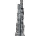 Metal Earth Burj Khalifa  Model 3D Metalowy Laserowo Wycinany